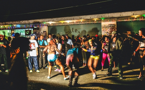 Street party in ghetto.