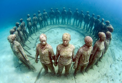 Credit Orlando K. Romain -Dive Grenada - Ring of Children_UNDERWATER SCULPTURE PARK